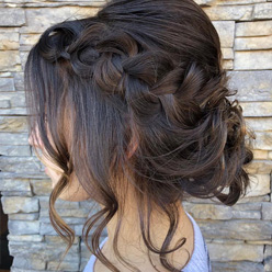 Brunette up-do